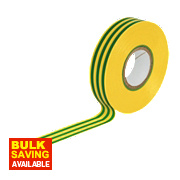 Insulating Tape Green / Yellow 19mm x 33m