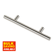 Fingertip Design T-Bar Cabinet Door Handle Polished Chrome 96mm