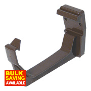 FloPlast RKS1 Square Line Fascia Brackets Brown 114mm Pack of 10