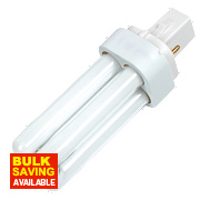 Sylvania Lynx D Compact Fluorescent Lamp G24D 2-Pin 600Lm 10W