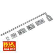Lockable Surface Bolts Galvanised 610mm