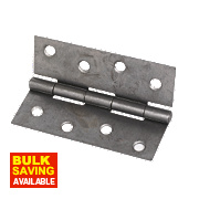 Steel Fixed Pin Hinges Self-Colour 101 x 72mm Pack of 20