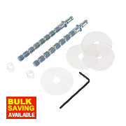 Back to Back Pull Handles Fixing Kit Self-Colour