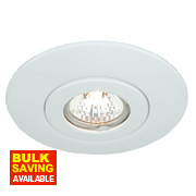 Circular Low Voltage Ceiling Downlight Converter White 12V