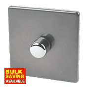 Varilight LED Dimmer Switch 1G 1/2-Way 400W Slate Grey