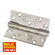 Fire Door Insignia Hinges Polished Stainless Steel 102 x 76mm Pk3