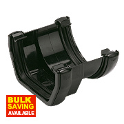 Square to Round Gutter Adaptor Black