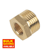 "Brass Bush ½"" x ¼"" Pack of 2"