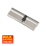 Century 5-Pin Euro Double Cylinder Lock 35-50 (85mm) Nickel