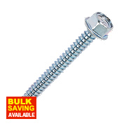 Rawlplug Self-Drilling Roofing to Steel Screws 6.3 x 90 x 4.18mm Pk100