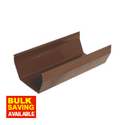 FloPlast Square Gutter 114mm x 3m Brown Pack of 6