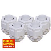 Corrugated Conduit Adaptors White 20mm Pack of 5