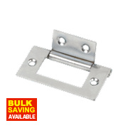 Flush Hinge Polished Chrome 51 x 25mm Pack of 2