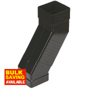 Square Line Black Adjustable Offset Bend 65mm