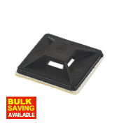 2-Way Adhesive Base Black 25 x 25mm Pack of 100