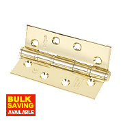 Eclipse Washered Fire Hinges Electro Brass 102 x 67mm Pk2