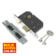 "Century 5-Lever Mortice Sashlock Chrome Plated 2.5"" / 64mm"