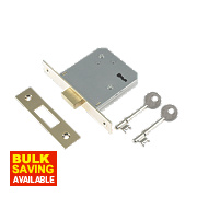 "Yale 3-Lever Mortice Deadlock Brass Plated 3"" / 76mm"
