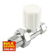 Straight Radiator Valve Chrome 10mm x ½""