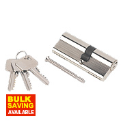 Smith & Locke 5-Pin Euro Double Cylinder Lock 35-45 (80mm) Nickel