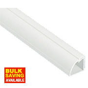 D-Line ¼ Round Floor Trunking White 22mm x 22mm x 2m