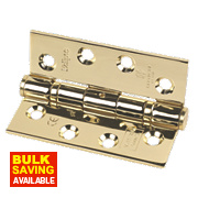 Eclipse Fire Door Hinge Electro Brass Stainless Steel 102 x 76mm Pk3