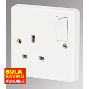 Crabtree 13A 1-Gang SP Switched Socket