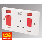 Crabtree 45A Switch / 13A Socket & Neon