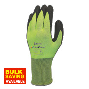 Skytec Theta 5 Cut 5 Nitrile Foam Palm Gloves Green Large