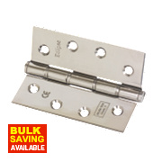Eclipse Grade 7 Washered Fire Hinges Polished Stainless Steel 102 x 76mm Pk2