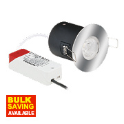 Aurora 30, 60 & 90min Fire Rated Fixed Bathroom LED Downlight IP44 Polished Chrome 9W
