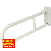 Elderly & Disabled Double Support Hinged Rail Steel White 250 x 100 x 720mm