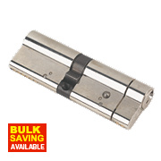 Yale AS Series Euro Double Cylinder Lock 55-45 (100mm) Brushed Nickel