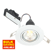 LAP Adjustable Round Mains Voltage Downlight Gloss White 240V