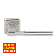 Jedo Seros Lever on Rose Door Handle Pair Satin Chrome