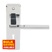 Jedo Delta Lever Lock Door Handle Pair Polished Chrome