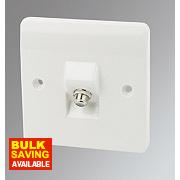 MK 1-Gang Satellite Socket White