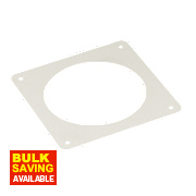 Manrose Round Wall Plate White 120mm