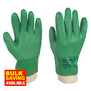 Showa 600 PVC Waterproof Gloves Green Large