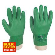 Showa 600 PVC Waterproof Gloves Green Large