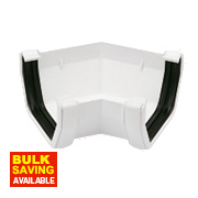 Square Line 135° Gutter Angle White