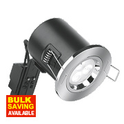 Aurora Fire Rated Fixed Compact LED Downlight IP20 Polished Chrome N/AW