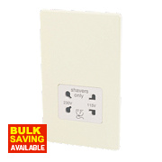 Varilight White Choc Shaver Socket