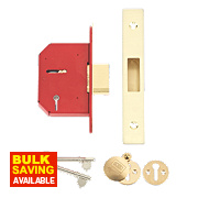 "Union 5-Lever Mortice Deadlock Brass 2½"" / 68mm"