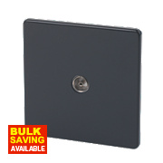 Varilight 1-Gang Jet Black Coaxial TV Socket