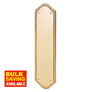 Finger Plate Georgian Polished Brass