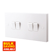 British General 4-Gang 2-Way 10AX Light Switch White