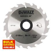 DeWalt 190x30mm 18T TCT Circular Saw Blade