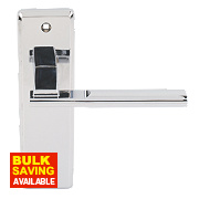 Jedo Delta Lever Latch Door Handle Pair Polished Chrome