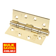 Grade 11 Ball Bearing Hinges Polished Brass 102 x 76mm Pk3